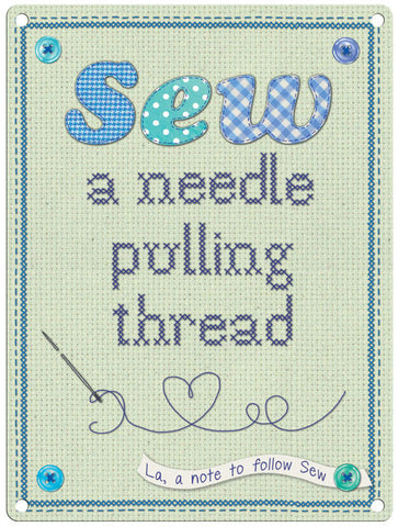 Sew A Needle Pulling Thread
