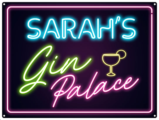 Gin Palace Neon - Personalised