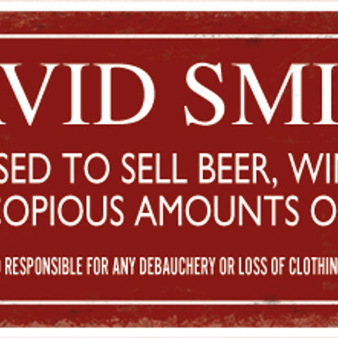 Personalised Signs- Home and Bar