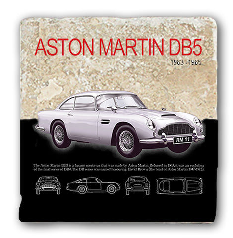 Marble Coaster - Aston Martin DB5 Marble Coaster (Single)