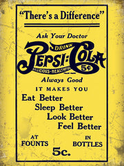 Pepsi Cola Ask Your Doctor
