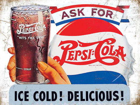Pepsi Cola - Ice Cold! Delicious!