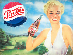 Pepsi Cola - Blond Lady White Dress
