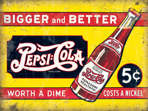 Pepsi Cola - Worth A Dime Costs A Nickel