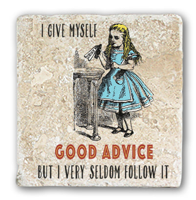 Marble Coaster - Good Advice Coaster (Single)