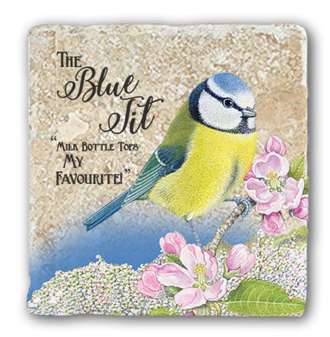 Marble Coaster - Blue Tit Marble Coaster (Single)
