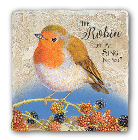 Marble Coaster - Robin Marble Coaster (Single)