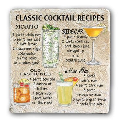 Marble Coaster - Classic Cocktail Marble Coaster (Single)