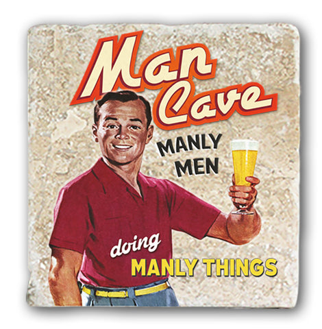 Marble Coaster - Man Cave Marble Coaster (Single)