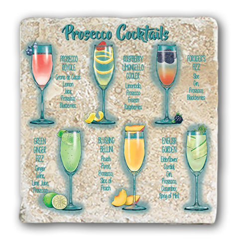 Marble Coaster - Prosecco Cocktails Marble Coaster (Single)