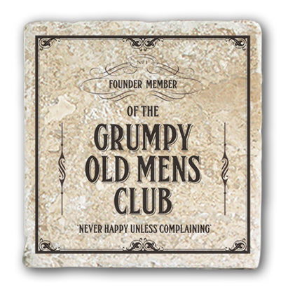 Marble Coaster - Grumpy Old Men's Club Marble Coaster (Single)