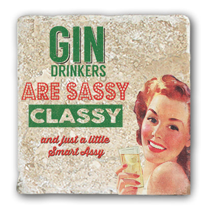 Marble Coaster - Gin Drinkers SassyMarble Coaster (Single)