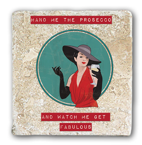 Marble Coaster - Hand Me The Prosecco Marble Coaster (Single)