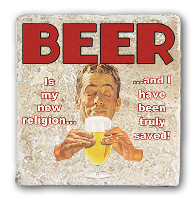 Marble Coaster - Beer New Religion Marble Coaster (Single)