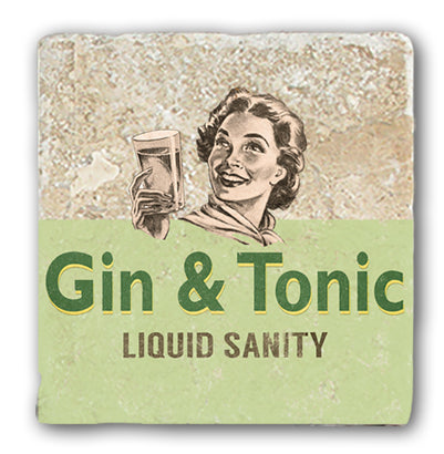 Marble Coaster - Gin & Tonic Marble Coaster (Single)