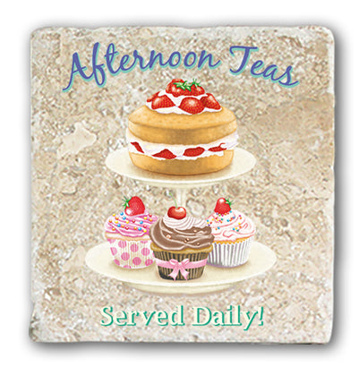 Marble Coaster - Afternoon Tea Marble Coaster (Single)