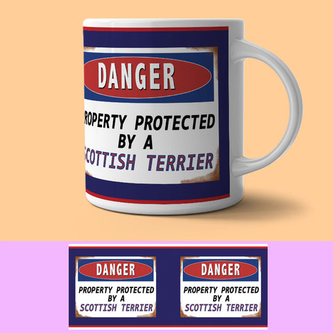 Mug - PROTECTED BY SCOTTISH TERRIER