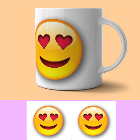 Mug - SMILIE HEART EYES