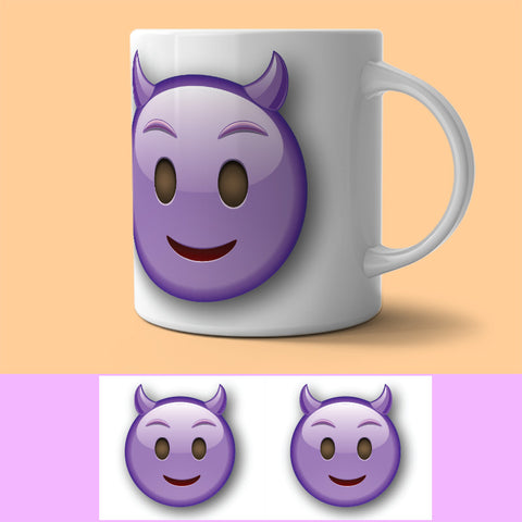 Mug - SMILIE - WITH HORNS