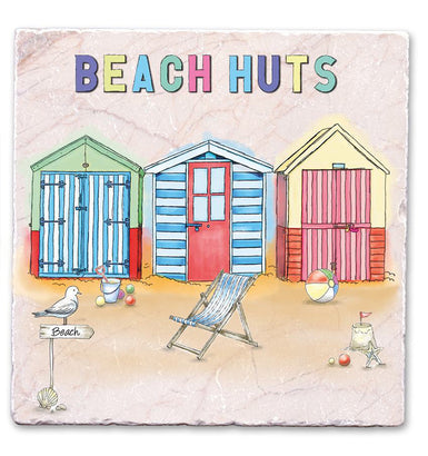 Marble Art Tile - Beach Huts