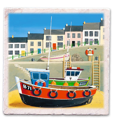 Marble Art Tile - B71 Boat - Martin Wiscombe