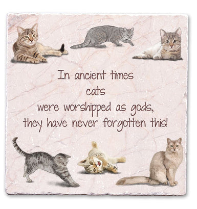 Marble Art Tile - Cats
