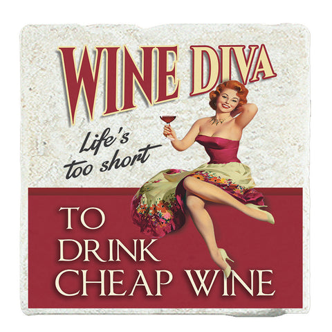 Marble Art Tile - Wine Diva