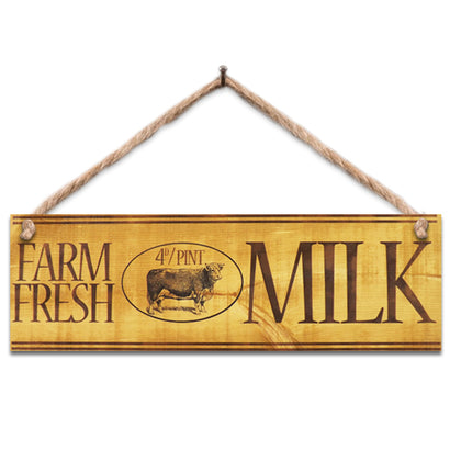 Wooden Sign - Farm Fresh Milk