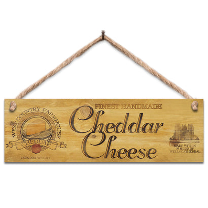 Wooden Sign - Cheddar Cheese