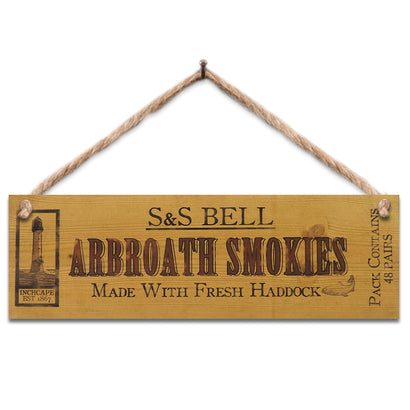 Wooden Sign - Arbroath Smokies