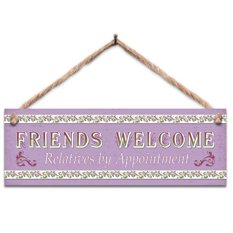 Wooden Sign - Friends Welcome
