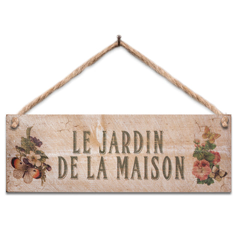 Wooden Sign - Le Jardin