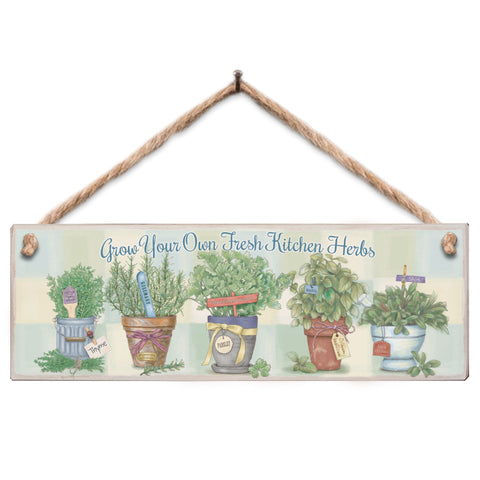 Wooden Sign - 5 Herbs