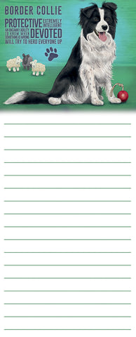 Memo Pad - Border Collie