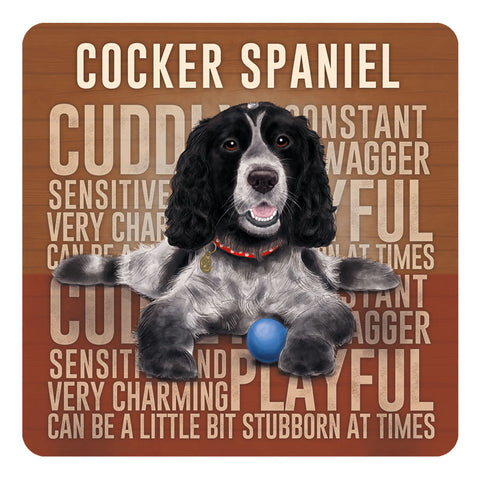 Melamine Coaster - Cocker Spaniel