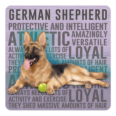 Melamine Coaster - German Shepherd