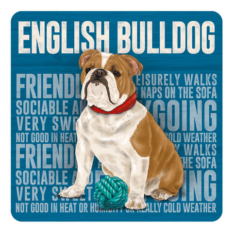 Melamine Coaster - English Bulldog