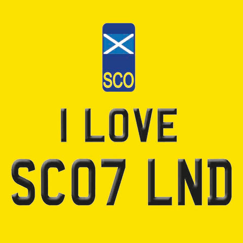 Melamine Coaster - I LOVE SCOTLAND