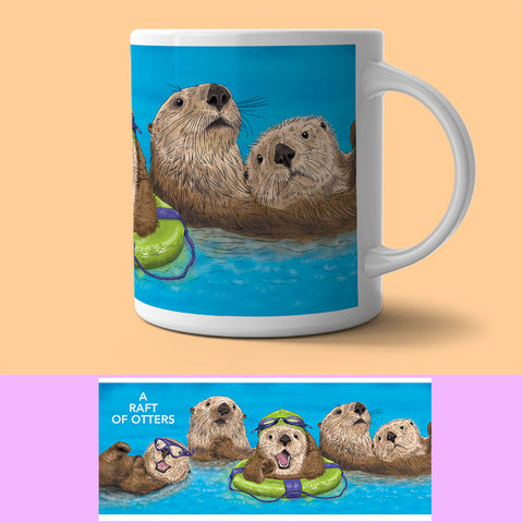 Mug - Collection Of...  Otters