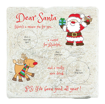 Marble Art Tile - Dear Santa...