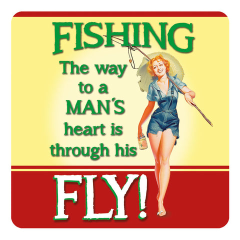 Melamine Coaster - Fishing Fly Coaster