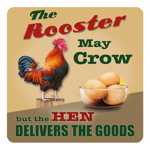 Melamine Coaster - Rooster May Crow Coaster
