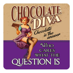 Melamine Coaster - Chocolate Diva Coaster