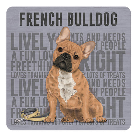 Melamine Coaster - Frenchie Coaster