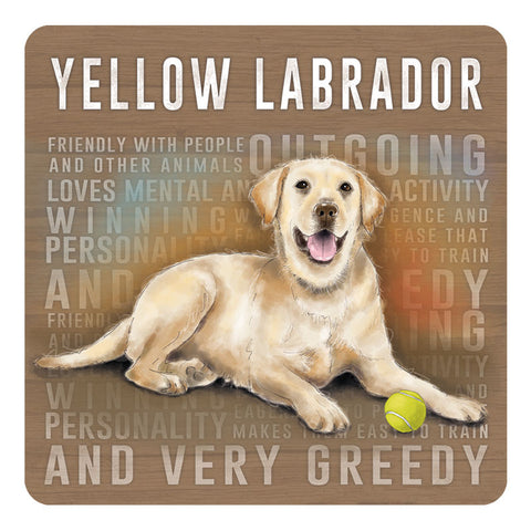 Melamine Coaster - Yellow Labrador