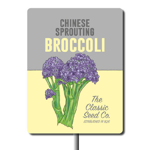 Plant Marker - Chinese Sprouting Broccoli