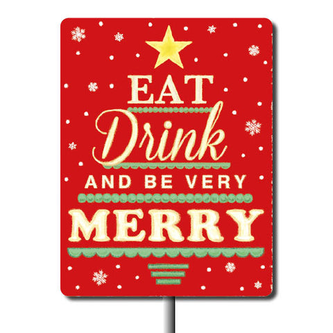 Plant Marker - Eat Drink And Be Merry