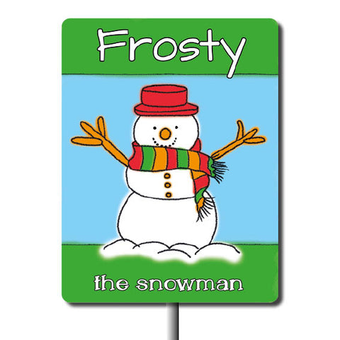 Plant Marker - Frosty The Snowman