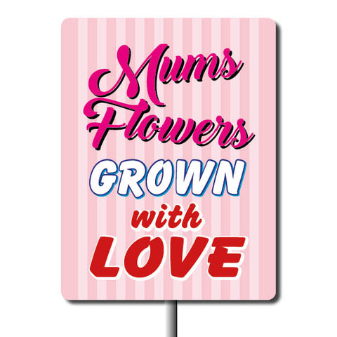Plant Marker - Mums Flowers