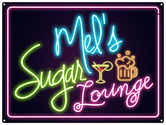 Sugar Lounge Neon - Personalised
